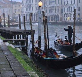 Βενετία: Στέρεψαν τα κανάλια της παραμυθένιας πόλης -Ακίνδυνες οι γόνδολες  - Κυρίως Φωτογραφία - Gallery - Video