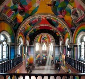 Ιστορική εκκλησία μετατράπηκε σε παράδεισο για skate & μάλιστα πολύχρωμο - Κυρίως Φωτογραφία - Gallery - Video
