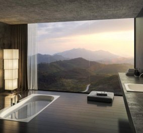 """15 Μοντέρνα μπάνια με φαντασμαγορικές """"βυθισμένες"""" μπανιέρες για το λουτρό των ονείρων σας - Φωτό - Κυρίως Φωτογραφία - Gallery - Video"""