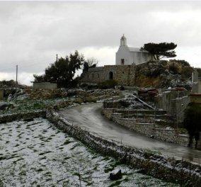 Στα λευκά ντύθηκαν τα ορεινά χωριά της Πάρου - Φωτογραφίες - Κυρίως Φωτογραφία - Gallery - Video