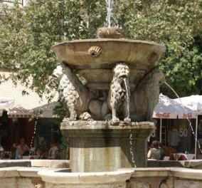"Good News: Τα ιστορικά ""λιονταράκια"" στο Ηράκλειο Κρήτης βγάζουν και πάλι νερό μετά από 10 ολόκληρα χρόνια  - Κυρίως Φωτογραφία - Gallery - Video"