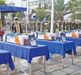 """Βαθιά συγκίνηση & τιμές: Η Ελλάδα υποδέχθηκε τα λείψανα των 6 στρατιωτικών που σκοτώθηκαν στην Κύπρο - Καμμένος: """"Αργήσαμε"""" - Κυρίως Φωτογραφία - Gallery - Video"""