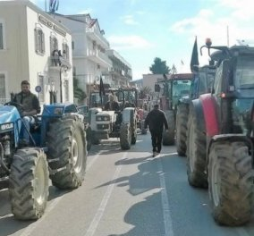 Αγρίεψαν οι αγρότες & στην Κεφαλονιά: Πενήντα τρακτέρ έστησαν μπλόκο στο κέντρο του Αργοστολίου - Κυρίως Φωτογραφία - Gallery - Video