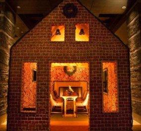 Εστιατόριο-κουκλίστικο σπιτάκι (φωτό) φτιαγμένο με εκατοντάδες κιλά ζάχαρη, μπαχαρικά, τζίντζερ, κανέλα & μοσχοκάρυδο! - Κυρίως Φωτογραφία - Gallery - Video