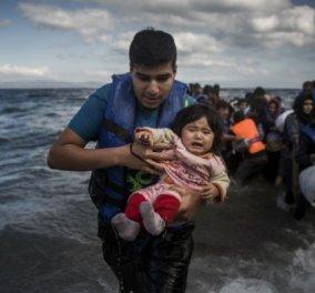 Τηλεδιάσκεψη κορυφής Ομπάμα- Μέρκελ- Ολάντ- Κάμερον για την προσφυγική κρίση στο Αιγαίο - Κυρίως Φωτογραφία - Gallery - Video