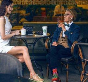 Ο χαρούμενος 85χρονος Κινέζος φόρεσε για πρώτη φορά στη ζωή του κοστούμι και έγινε fashion icon - Κυρίως Φωτογραφία - Gallery - Video