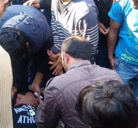 2 απελπισμένοι πρόσφυγες έκαναν απόπειρα αυτοκτονίας στην Πλατεία Βικτωρίας (Σκληρές εικόνες) - Κυρίως Φωτογραφία - Gallery - Video