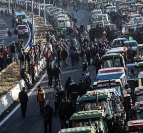 Νέος γύρος αγροτικών κοινοποιήσεων: Κλειστά τα  Τέμπη  και στους παράδρομους - Νέα μπλόκα σε Αλμυρό και Κρήτη   - Κυρίως Φωτογραφία - Gallery - Video