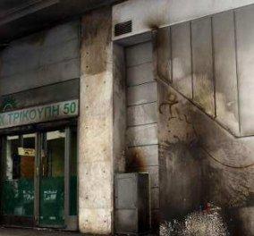 Νέα επίθεση με 20 μολότοφ δέχθηκαν τα γραφεία του ΠΑΣΟΚ - Κυρίως Φωτογραφία - Gallery - Video