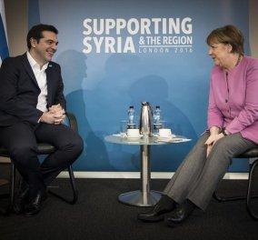 Συνάντηση Τσίπρα - Μέρκελ στη Διεθνή Διάσκεψη Δωρητών για τη Συρία  - Κυρίως Φωτογραφία - Gallery - Video