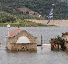 Θαύμα! Μια εκκλησία - «φάντασμα» αναδύθηκε από το νερό στην Κρήτη - Κυρίως Φωτογραφία - Gallery - Video