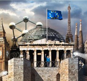 """Πρωτοσέλιδο """"μήνυμα"""" του Spiegel για το προσφυγικό: Η Ευρώπη """"φρούριο"""" και η Μέρκελ να χαιρετά - Κυρίως Φωτογραφία - Gallery - Video"""