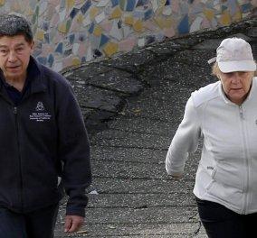 Οι διακοπές της Α. Μέρκελ στα Κανάρια νησιά: Με φόρμα, καπέλο & έναν... στρατό να την φυλάει! - Κυρίως Φωτογραφία - Gallery - Video