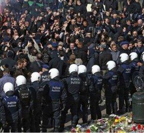 «Πεδίο μάχης» οι Βρυξέλλες – Άγριες συγκρούσεις της αστυνομίας με ακροδεξιούς – Τουλάχιστον 10 συλλήψεις  - Κυρίως Φωτογραφία - Gallery - Video