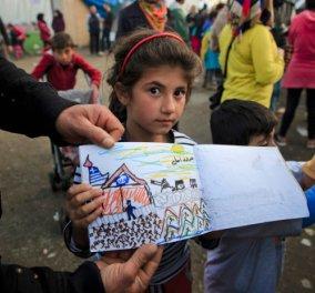 Αποκρυπτογραφώντας την ζωγραφιά μιας προσφυγοπούλας - Κυρίως Φωτογραφία - Gallery - Video