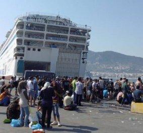 Άγρια συμπλοκή προσφύγων στο λιμάνι του Πειραιά - Τρεις τραυματίες - Κυρίως Φωτογραφία - Gallery - Video