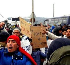 Οργή και απογοήτευση στην Ειδομένη - Οι πρόσφυγες πίστεψαν πως θα άνοιγαν τα σύνορα την Κυριακή - Κυρίως Φωτογραφία - Gallery - Video