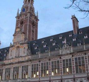Bίντεο: Καμπάνες της βιβλιοθήκης Πανεπιστημίου στο Βέλγιο παίζουν το Imagine για τα θύματα των Βρυξελλών - Κυρίως Φωτογραφία - Gallery - Video