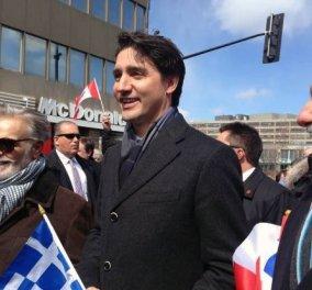 Πρωθυπουργός Καναδά: Zito Hellas! Το Ζήτω του ωραίου Τριντό στην Ελληνική παρέλαση - Κυρίως Φωτογραφία - Gallery - Video