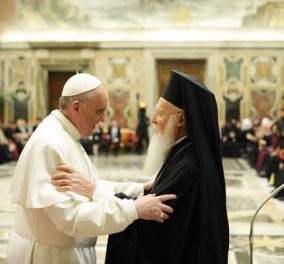 Έρχεται στην Ελλάδα ο Πάπας Φραγκίσκος: Θα επισκεφτεί τη Λέσβο μαζί με Αρχιεπίσκοπο Ιερώνυμο & Πατριάρχη Βαρθολομαίο - Κυρίως Φωτογραφία - Gallery - Video