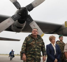 Στις Οινούσσες ο Καμμένος με την στρατιωτική ηγεσία μετά το «μπαράζ» τουρκικών παραβιάσεων  - Κυρίως Φωτογραφία - Gallery - Video