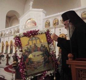 Κατάνυξη στον Άγιο Βασίλειο με τον Αρχιεπίσκοπο Ιερώνυμο στην Ακολουθία του Νιπτήρος - Όλες οι φωτογραφίες  - Κυρίως Φωτογραφία - Gallery - Video