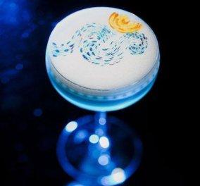Iάπωνας barman ζωγράφισε πάνω σε cocktails - Το αποτέλεσμα πρέπει να το δείτε! - Κυρίως Φωτογραφία - Gallery - Video