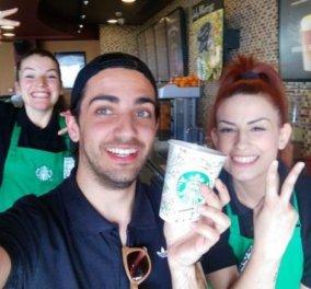 Μade in Greece ο Χαρίτος Μουντουφάρης: Η Starbucks διάλεξε το σχέδιό του από 350 για τα tall της - Κυρίως Φωτογραφία - Gallery - Video