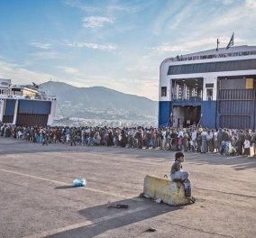 Νερό έριξαν στον Υπουργό Μουζάλα οι ανήλικοι πρόσφυγες στη Λέσβο - Έχουν μείνει καιρό στην Μόρια - Κυρίως Φωτογραφία - Gallery - Video