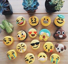 Τρισχαριτωμένα μακαρόν σε σχήμα των δημοφιλέστερων emojis: Έτοιμα να τα φάτε ! - Κυρίως Φωτογραφία - Gallery - Video