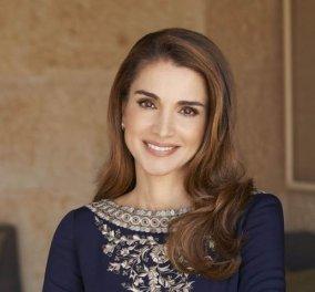 Η πανέμορφη βασίλισσα Ράνια της Ιορδανίας στην Λέσβο:Κοντά στους πρόσφυγες σε Καρά Τεπέ & Μόρια  - Κυρίως Φωτογραφία - Gallery - Video