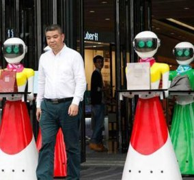 Θεός! Kινέζος μεγιστάνας έφτιαξε ρομπότ για να του κουβαλάνε τα ψώνια - Ε ρε ψώνιο - Κυρίως Φωτογραφία - Gallery - Video