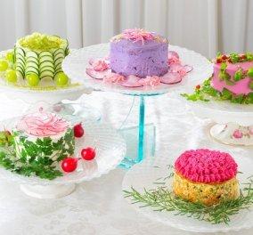 Ιάπωνας παρασκεύασε λαχταριστές σαλάτες σε μορφή... κέικ: Υγιεινές & πανέμορφες (Φωτό) - Κυρίως Φωτογραφία - Gallery - Video