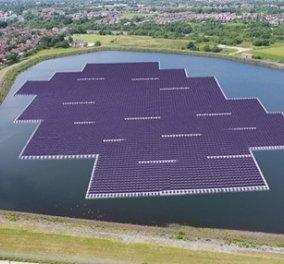 Στη Βρετανία το μεγαλύτερο πλωτό φωτοβολταϊκό πάρκο της Ευρώπης: Μέγεθος 8 γηπέδων - Κυρίως Φωτογραφία - Gallery - Video