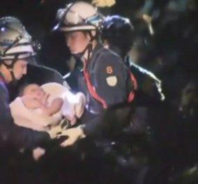 Βίντεο: Μωράκι οκτώ μηνών ανασύρθηκε ζωντανό από τα συντρίμμια του σεισμού στην Ιαπωνία - Κυρίως Φωτογραφία - Gallery - Video