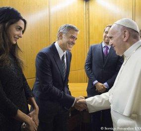 Το Χόλιγουντ στον Πάπα: Αμάλ & Τζόρτζ Κλούνεϊ, Ρίτσαρντ Γκιρ με νεαρή φίλη, Σάλμα Χάγιεκ με σύζυγο & κόρη   - Κυρίως Φωτογραφία - Gallery - Video