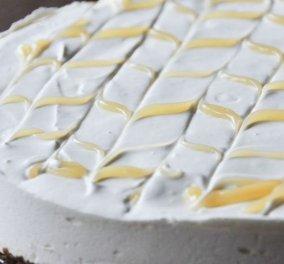 O Άκης Πετρετζίκης μεγαλουργεί & μας ενθουσιάζει: Δροσερό και ελαφρύ cheesecake λεμόνι - Κυρίως Φωτογραφία - Gallery - Video