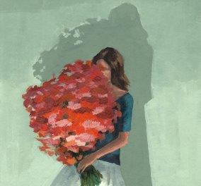 Η Clare ζωγραφίζει τις γυναίκες με υπέροχα μπουκέτα λουλουδιών αντί για υπέροχα πρόσωπα...   - Κυρίως Φωτογραφία - Gallery - Video