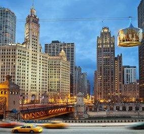 """Ένα φιλόδοξο σχέδιο που αλλάζει το Σικάγο: Ιδού τα νέα γυάλινα τελεφερίκ της """"Πόλης των Ανέμων""""! - Κυρίως Φωτογραφία - Gallery - Video"""