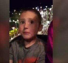 """Βίντεο: Ο πατέρας έζησε το """"τέλος"""" του στο τρενάκι του τρόμου: Έσπασε η ζώνη του 6χρονου γιου του και ...   - Κυρίως Φωτογραφία - Gallery - Video"""