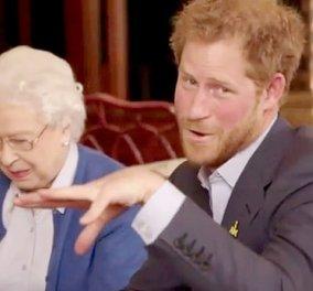 Η Μισέλ & ο Ομπάμα κάνουν κόντρες και βιντεάκια με την Βασίλισσα Ελισάβετ & τον Χάρι: Ο Τρουντό όμως κερδίζει... - Κυρίως Φωτογραφία - Gallery - Video