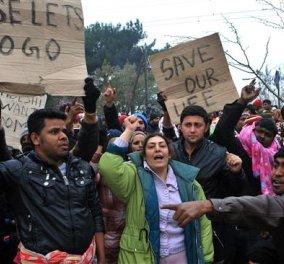 Λήξη συναγερμού για την Ειδομένη: Έφυγαν οι πρόσφυγες από την σιδηροδρομική γραμμή - Δεν λειτουργεί όμως ακόμα - Κυρίως Φωτογραφία - Gallery - Video