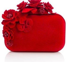 Ένα τόσο δα τσαντάκι (clutch) Jimmy Choo με κόκκινα τριαντάφυλλα & τιμή... αιματηρή  - Κυρίως Φωτογραφία - Gallery - Video