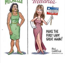 Σεξιστικό σκίτσο για τη Μισέλ Ομπάμα από οπαδό του Τραμπ προκαλεί θύελλα αντιδράσεων - Κυρίως Φωτογραφία - Gallery - Video