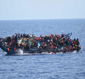 Ξεπερνούν τους 100 οι νεκροί από το νέο ναυάγιο ανοιχτά της Λιβύης - Φωτό από το σημείο της τραγωδίας - Κυρίως Φωτογραφία - Gallery - Video