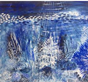 Με το μπλε, το χρώμα της ελληνικής ψυχής η Βάσω Τρίγκα ταξιδεύει την τέχνη της και στο Παρίσι - Εγκαίνια το Σάββατο 21/5 - Κυρίως Φωτογραφία - Gallery - Video