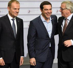 Ικανοποίηση Τουσκ και Γιούνκερ για τη συμφωνία του Eurogroup για την Ελλάδα  - Κυρίως Φωτογραφία - Gallery - Video