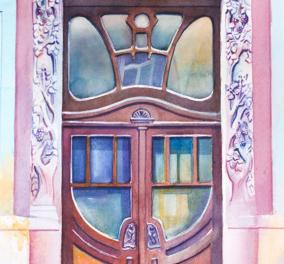 Ουκρανή καλλιτέχνιδα ταξιδεύει σε όλον τον κόσμο & μεταμορφώνει παλιές πόρτες - Τις ζωγραφίζει παστέλ & είναι υπέροχες - Κυρίως Φωτογραφία - Gallery - Video