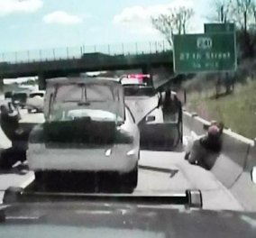 Απίστευτο βίντεο: Πήγαν να της πάρουν το αυτοκίνητο & εκείνη τράκαρε το περιπολικό! - Κυρίως Φωτογραφία - Gallery - Video