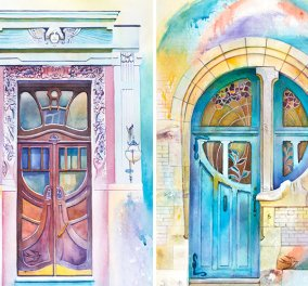 Ζώντας σε έναν κόσμο πολύχρωμο - Η καλλιτέχνης από την Ουκρανία που εμπνέεται από τις πόρτες των σπιτιών - Κυρίως Φωτογραφία - Gallery - Video